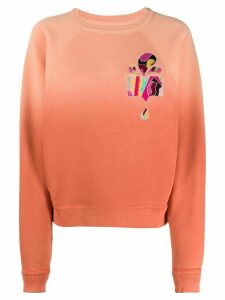 Isabel Marant Belem dip-dye sweatshirt - ORANGE