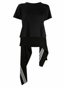 Y-3 deconstructed draped back T-shirt - Black