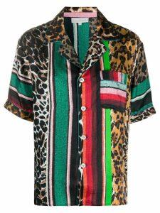 Pierre-Louis Mascia mixed print shirt - Green