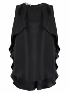 Stella McCartney ruffled top - Black