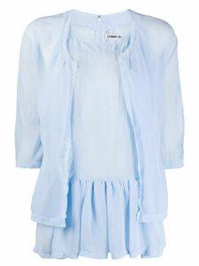 Comme Des Garçons layered effect T-shirt - Blue