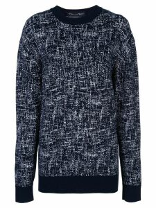 Oscar de la Renta two-tone knit jumper - Blue