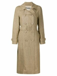 Herno long belted trench coat - NEUTRALS