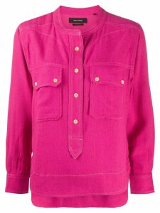 Isabel Marant top-stitched crepe blouse - PINK