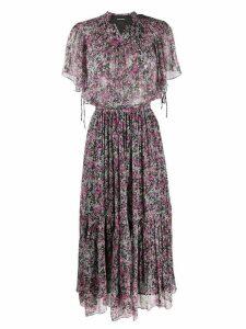 Isabel Marant ditsy print long dress - PURPLE