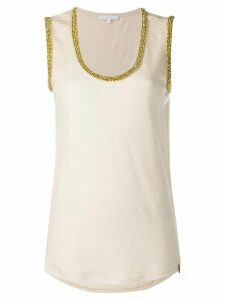 Patrizia Pepe embellished tank top - NEUTRALS