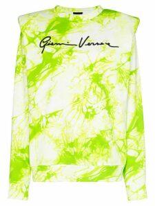 Versace tie-dyed logo-print sweatshirt - Green