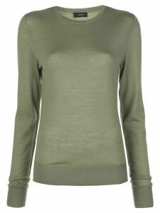Joseph round neck wool jumper - Green
