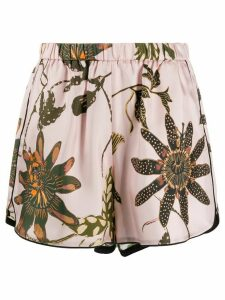 Dorothee Schumacher elasticated floral print silk shorts - PINK
