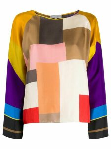Pierre-Louis Mascia colour block blouse - Yellow