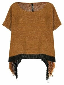 Pierantoniogaspari knitted short sleeve top - Brown