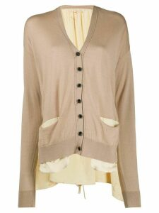 Uma Wang V-neck button down cardigan - NEUTRALS