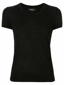 Paule Ka plain knitted T-shirt - Black