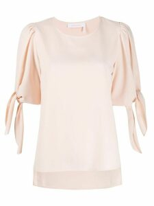 See by Chloé tied sleeve blouse - PINK