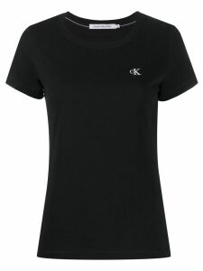 Calvin Klein Jeans embroidered logo T-shirt - Black