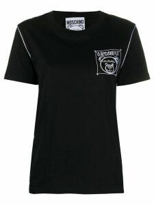 Moschino embroidered logo T-shirt - Black