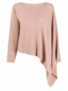 Fabiana Filippi asymmetric knitted top - PINK