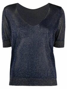 Roberto Collina metallic-knit top - Blue