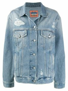 Acne Studios 2000 patched-up denim jacket - Blue