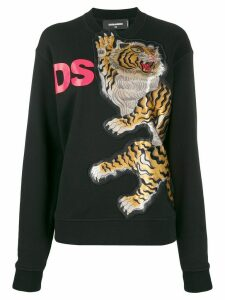 Dsquared2 tiger motif knitted jumper - Black