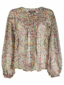 Isabel Marant Orionea floral-print blouse - Yellow