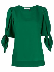 See by Chloé short sleeve tied sleeve top - Green
