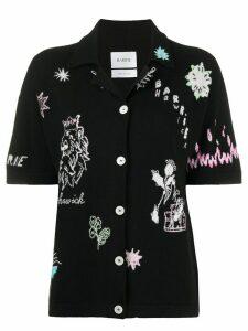 Barrie Symbols embroidered knit shirt - Black