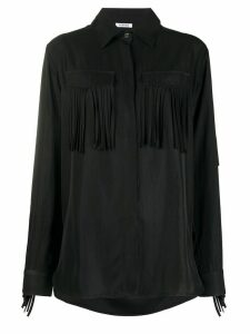 P.A.R.O.S.H. fringed shirt - Black