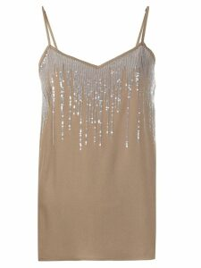 Fabiana Filippi sequin embellished top - Brown