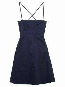Proenza Schouler White Label cross back detail dress - Blue