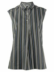 Aspesi sleeveless striped shirt - Green