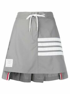 Thom Browne striped pleated short skirt - Grey