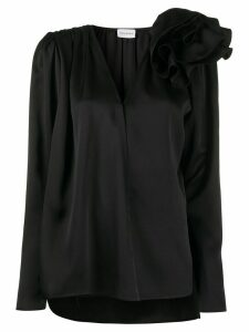 Magda Butrym 3D shoulder appliqué blouse - Black