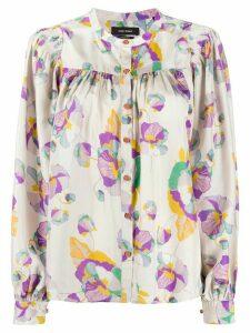 Isabel Marant Rionea floral-print blouse - NEUTRALS
