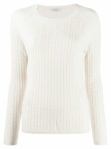 Max Mara cashmere cable knit jumper - NEUTRALS