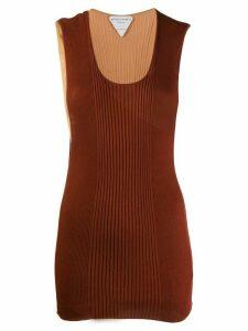 Bottega Veneta bicolor ribbed knit tank top - Red