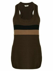 Fendi scoop neck knitted top - Brown
