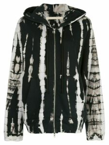 Raquel Allegra oversized abstract print hoodie - Black