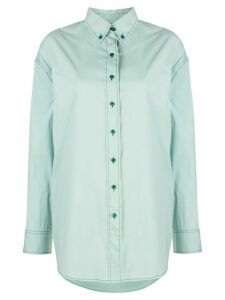 Sies Marjan Kiki top-stitched oversized shirt - Blue