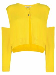 Dorothee Schumacher cutout detail cardigan - Yellow