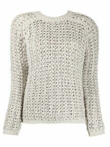 Ermanno Scervino v-neck loose knit jumper - NEUTRALS