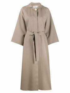 Lemaire Mantel oversized coat - NEUTRALS