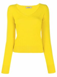 Dorothee Schumacher v-neck fine knit jumper - Yellow