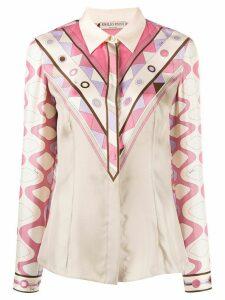 Emilio Pucci geometric print shirt - NEUTRALS