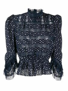 Marc Jacobs floral lace detailed blouse - Blue