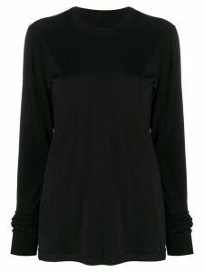 Rick Owens DRKSHDW crew neck jersey sweater - Black