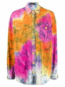 Versace tie-dye denim shirt - ORANGE