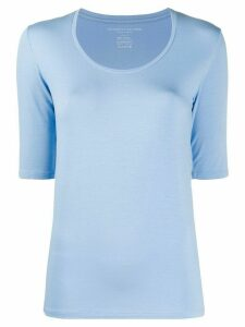 Majestic Filatures scoop neck slim-fit T-shirt - Blue