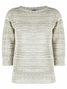 Lorena Antoniazzi 3/4 sleeves crew-neck jumper - NEUTRALS
