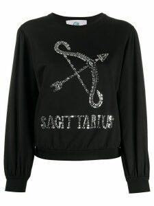 Alberta Ferretti Sagittarius embellished jumper - Black